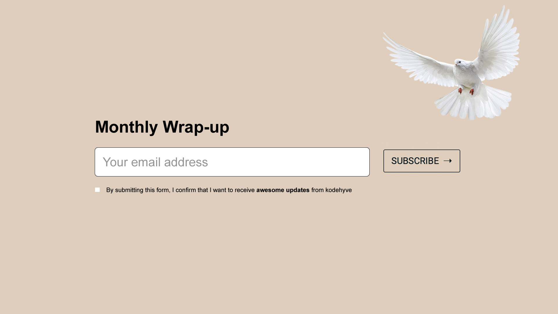 Monthly wrap-up newsletter